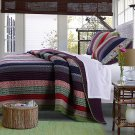 NEW Greenland Home Reversible 3 Piece Marley Quilt Set - King - Great Colors Oversized