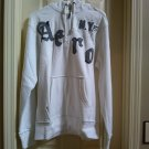Aeropostale Mens NY87 Quarter-zip Hoodie in White Size Medium Nicked Edges NEW # 3008