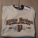 Paco Jeans Embroidered Tee T-Shirt Short Sleeves Mens Medium M NOS
