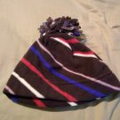 Old Navy Womens Performance Fleece Pom-Pom Hat S/M Brown Stripe NEW