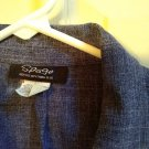 VINTAGE Spago Suit Jacket Blazer Short Waist Button Front Sz Small Pre-Owned