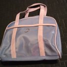 NOS JAFRA Travel Large Cosmetic Handled Bag Light Blue Gray Versatile Sturdy