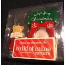 NOS 2006 Child of Mine Photo Frame & Ornament Set Stocking + Stocking Frame Cute