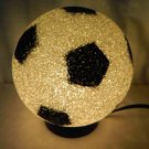 NEW Sports Soccer Ball Eva Lamp 7 Inch Size Eva Light Glow Brite Lamp Black White