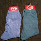 New 2 Pair Solid Crew Socks by xhilaration Blue and Teal Casual Socks NEW