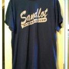 EUC Mens Extra Large XL Vintage 90s Sandlot Baseball Club Tee Front & Back Graphics Navy