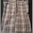 NEW Mens Plaid Shorts in Black Gray Sz. 38 Flat Front Sonoma Brand $36.00