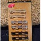 Vidal Sassoon Metal Bar Barrettes Hair Clips Set of 6 Gold Silver Black NEW # VS 11207