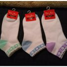 Womens Socks Tiff 'N Tam Sports and Casual Ankle Cut Womens Socks 3 Pair Lot NEW