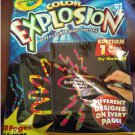 Crayola Color Explosion Edition 1 Surprise Colors Magic Designs - 18 Pages - NEW