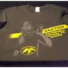 Mens Teens Boys Gray Duck Commander CAUTION Tee T-Shirt Medium NEW