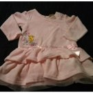Disney Classic Winnie Pooh Toddler Velour Dress Pink Size 24M Ruffle Style Dress NEW