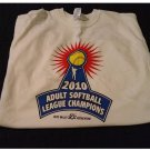 EUC Adult Large L 2010 Softball Champions Tee Graphics White