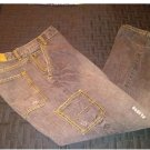 Destroyed Mens Loose Fit Jeans Gray Black Wash Tears 34 x 30 OTB One Tough Brand