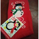 Women's Christmas Crew Socks - Red with Snowman Pattern Shoe Size 4-10 NEW
