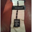 New BAMBOO Knee High Fashion Socks by George in Tan - One Pair - Shoe Size 6-12.5