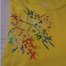NEW Womens Adidas Kaleidoscope Lemon Multi Color LOGO Tee Womens Large L