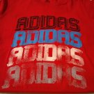 NEW Womens Adidas x 4 Graphic LOGO Tee in RED Womens Large L