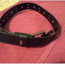Mens Faux Leather Black Studded Belt Sz Small by Tony Hawk NEW