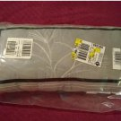 NEW LINEA Black Gray White Oblong Accent Pillow 10 x 20 Inches NEW
