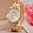 GENEVA Quartz Watch with Diamonds Round Dial