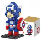 190Pcs Captain America Building Block Creative ABS Material Kid Toy M - 9159