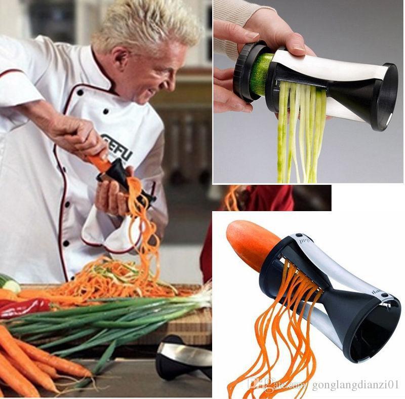 Practical Hourglass Style Spiral Slicer Shredder Fruit Vegetables Spiral Tool