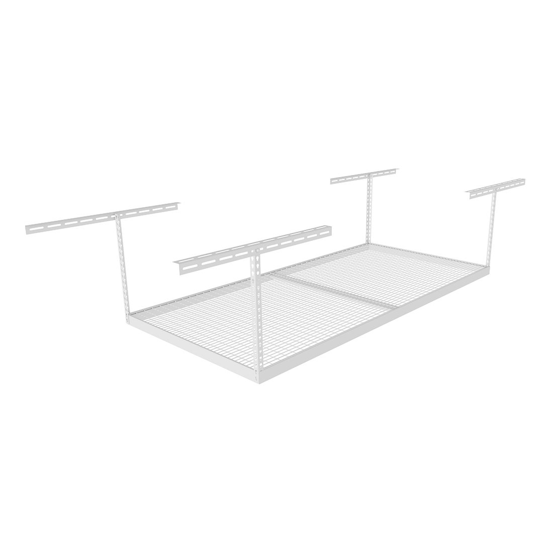 "MonsterRax (MR-4x8-W Pack 18) 4'x8' Overhead Storage Rack 18"" to 33"" Drop - White"