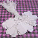 116 White Hanging Price Tags String Strung Style for Jewelry