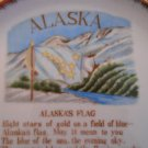Vintage Alaska Souvenir Plate with Poem by Marie Drake 1960
