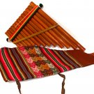 Pan Flute Reed zampona panpipe, 'Andean Panpipe' Fair Trade with Hand Made Bag Peru