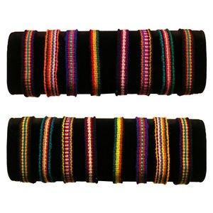 Woven Friendship Cotton Bracelets Colorful 50 Lot Pack Fundraisers Schools 3502