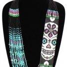 CDay of Dead Contemporary Casual Sassy Necklace Sugar Skull Skeleton NE602