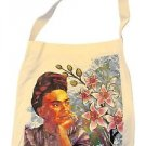 Frida Kahlo Portrait Original Cotton Tote Bag Printed Handbag Fair Trade Peru