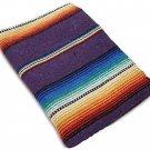 Sarape Mexico Serape Saltillo Falsa Blanket Thick Original Purple Lavender Yoga