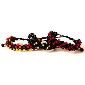 3 Assorted Adjustable Acai Bracelet Natural Seed Original Amazon Artisan Peru Pk