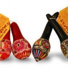 Gourd Carved Multicolor Maraca Pack 6 Pairs Resale Wholesale Pack Peru Assorted
