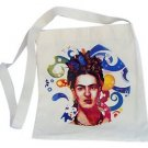 Cotton Tote Bag Frida Kahlo Colorful Printed Handbag Fair Trade Peru Canvas Sack