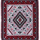 Red Navajo Design Southwest Throw Sarape Blanket 4'x5' Classic Two Gray Hills