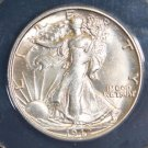 1942 S Choice Uncirculated MS 63 Walking Liberty Half Dollar