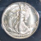 1942 MS 64 Choice Brilliant Plus White Walking Liberty Silver Half Dollar