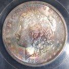 1882 S MS 66 Rainbow Toned Morgan Silver Dollar