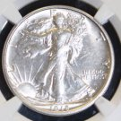 1918 S  AU 58 San Francisco Mint Walking Liberty Silver Half Dollar