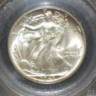 1943 MS 65 PCGS Certified Walking Liberty Silver Half Dollar