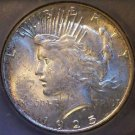 1925 S Rainbow Toned Scarce Date Graded MS 64 Uncirculated Peace Silver Dollar