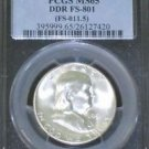 1951 S MS 65 Double Die Reverse Franklin Half Dollar PCGS Cherry Pickers FS 801