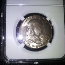 1953 Toned MS 66 High Grade NGC Certified Franklin Silver Half Dollar