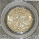 1947 D MS 66 PCGS Certified Walking Liberty Silver Half Dollar