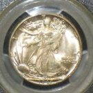 1942 MS 65 PCGS Certified Toned Walking Liberty Silver Half Dollar