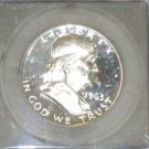 1963 Proof 68 Frosted Cameo Proof Certified Franklin Silver Half Dollar